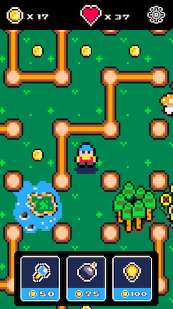 Pixel Maze Forest level